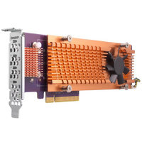 QNAP QM2-4P-284 Quad M.2 2280 PCIe NVMe SSD Expansion Card