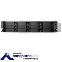 QNAP TS-1231XU-RP-4G 12 Bay Diskless Rack NAS Alpine AL-314 1.7GHz CPU 4GB RAM