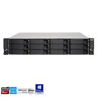 QNAP TS-1263U-RP-4G 12 Bay Rackmount Diskless NAS - Quad Core 2.0GHz CPU 4GB RAM