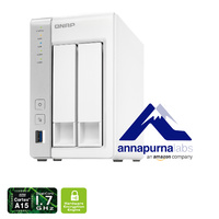 QNAP TS-231P 2 Bay Diskless NAS AL-212 DUAL CORE  - 1GB RAM