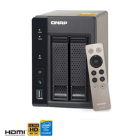 QNAP TS-253A-8G 2 Bay Diskless NAS Quad-core Intel Celeron CPU 8GB RAM