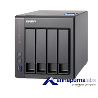 QNAP TS-431X-8G 4 Bay Diskless NAS Alpine AL-212 1.7GHz CPU 8GB RAM