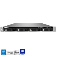 QNAP TS-453U-RP 4 Bay 1U Rackmount Diskless NAS - Quad Core 2.0GHz CPU, 4GB RAM