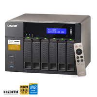 QNAP TS-653A-8G 6 Bay Diskless NAS Quad-core Intel Celeron CPU 8GB RAM
