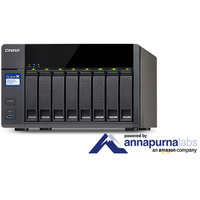 QNAP TS-831X-16G 8-Bay Diskless NAS Quad-Core 1.4GHz 16GB RAM