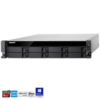QNAP TS-863U-RP-4G 8 Bay Rackmount Diskless NAS - Quad Core 2.0GHz CPU, 4GB RAM