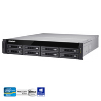 QNAP TS-EC880U-E3-4GE-R2  8 Bay Enterprise NAS Xeon® E3-1246 v3 Quad-core 4GB RAM