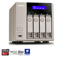 QNAP TVS-463-8G 4 Bay Diskless NAS - Quad Core 2.4GHz Processor, 8GB RAM