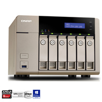 QNAP TVS-663-8G 6 Bay Diskless NAS - Quad Core 2.4GHz Processor, 8GB RAM