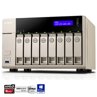 QNAP TVS-863+-16G 8 Bay Diskless NAS - Quad Core 2.4GHz Processor, 16GB RAM