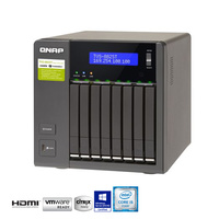 "QNAP TVS-882ST2-i5-8G 8 Bay NAS Tower Quad Core 1.9GHZ Intel I5, Thunderbolt 8X SATA 2.5"" HDD, 8GB DDR4 RAM"