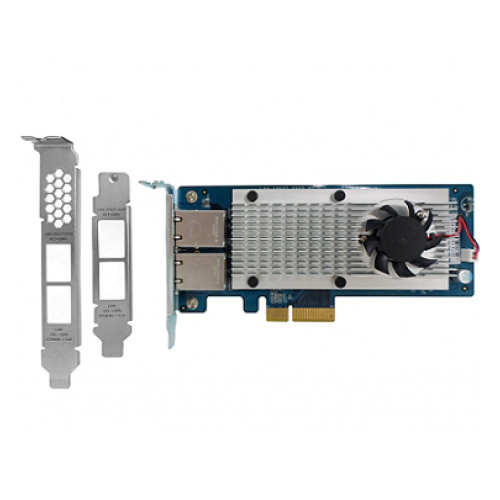 QNAP LAN-10G2T-X550 Dual-port 10 Gigabit Network Rackmount/Tower Expansion Card