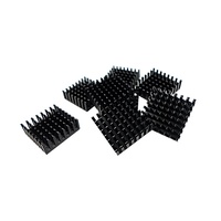 QNAP Heat Sink for M.2 SSD Module, 14x14mm, Black, Self Adhesive - 8 PCS