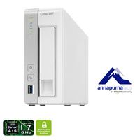 QNAP TS-131P 1 Bay Diskless NAS AL-212 DUAL CORE  - 1GB RAM