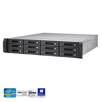 QNAP TS-EC1280U-E3-4GE-R2 12 Bay Enterprise NAS Quad-core Xeon 4GB RAM